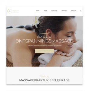 Webdesign – Massagepraktijk Effleurage